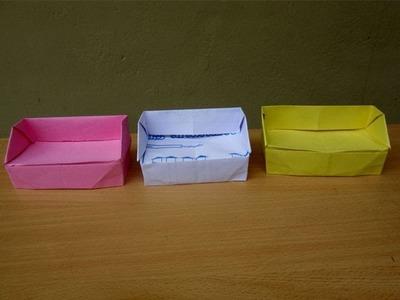 How to Make a Paper Sofa - Easy Tutorials