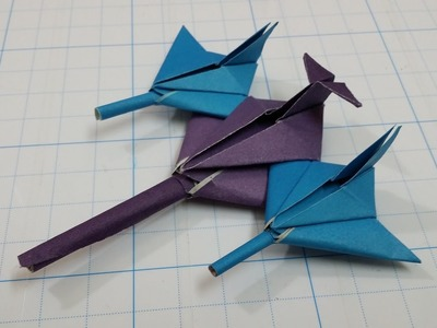 How to Make a Star Fighter Paper Plane   Very Nice
