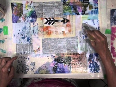How To Make Fabric Paper With Muslin -  Part 1