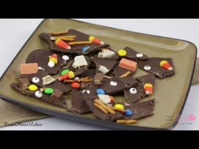 How to make Halloween Candy Bark