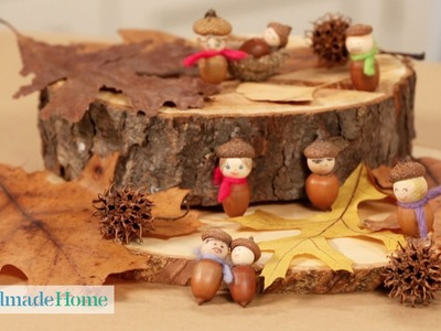 How to Make Seasonal Acorn People - Handmade Home - Martha Stewart