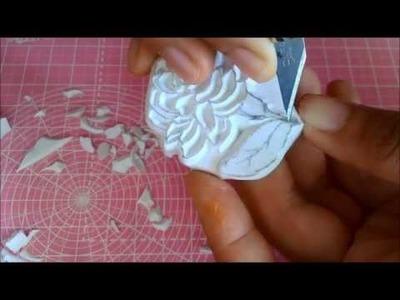 Jasmine flower | Hand carved stamp tutorial