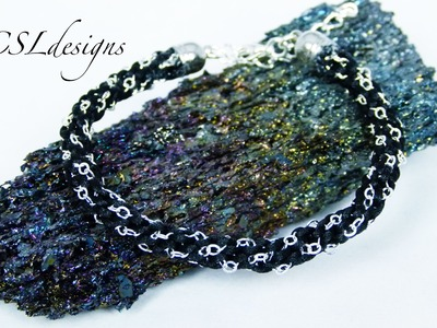 Kumihimo chain bracelet