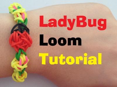 LADYBUG loom Bracelet Tutorial Rainbow Loom l JasmineStarler
