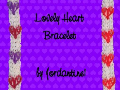 New Lovely Heart Bracelet - Monster Tail or Rainbow Loom -Valentine's Day