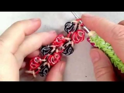 Ocean Spray bracelet tutorial (hook only) rainbow loom bands