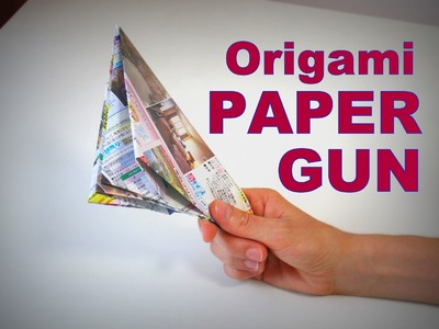Origami - How to make a PAPER POP GUN