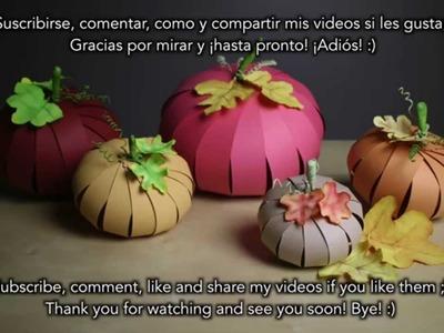 Paper Pumpkin - Potiron en papier - Calabaza de papel