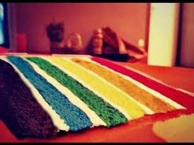 Rainbow Cake Tutorial ♡