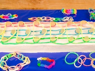 Rainbow Loom Cake from Cookies Cupcakes and Cardio