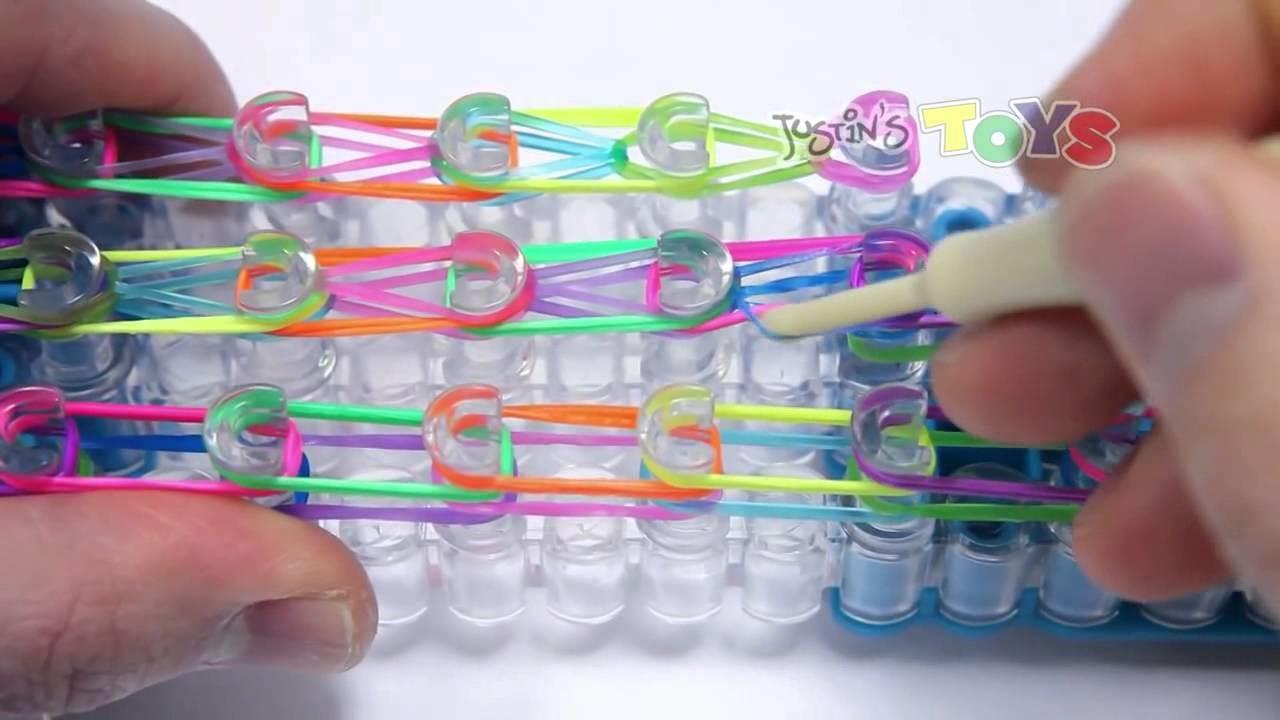 Rainbow Loom Cap Link Chain Easy Design Tutorial