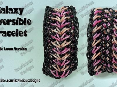 Rainbow Loom Galaxy Reversible Bracelet Single Loom