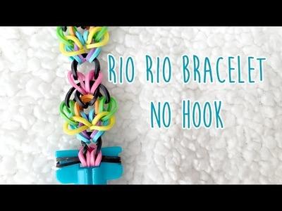 Rainbow Loom No Hook: Rio Rio Bracelet (2 pegs)