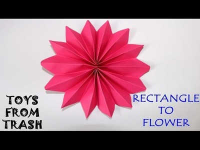 Rectangle to Flower | Kannada | Fun with Paper
