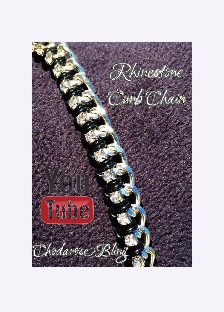 Rhinestone Cup Curb Chain Loom Bracelet How to Tutorial