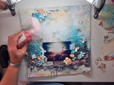 Start to finish Mixed media page TUTORIAL for MY Creative Scrapbook 'Our Story'