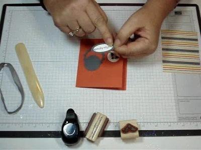 Tri- fold card with Dawn