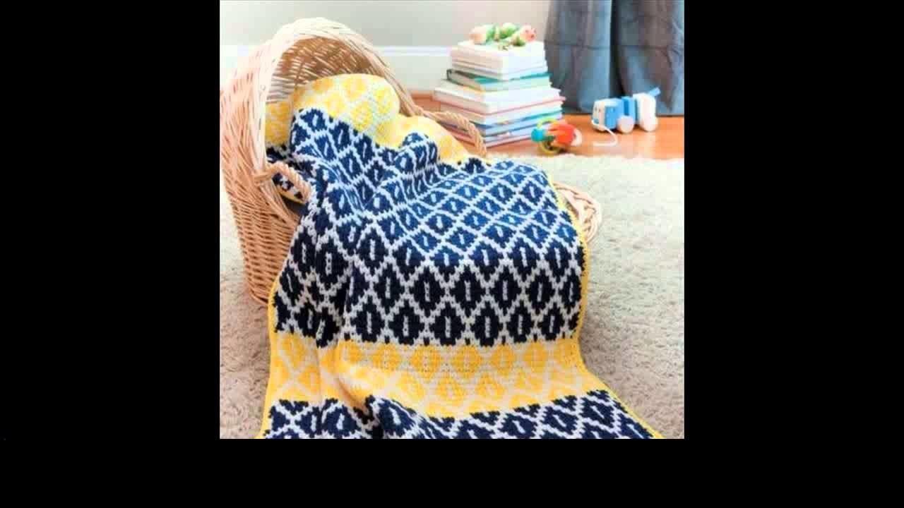 Tunisian crochet baby sweater