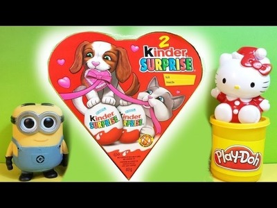 2014 Kinder Surprise Eggs ♥ Minion ♥ Hello Kitty ♥ Valentine's Day ♥ How to make Hello Kitty