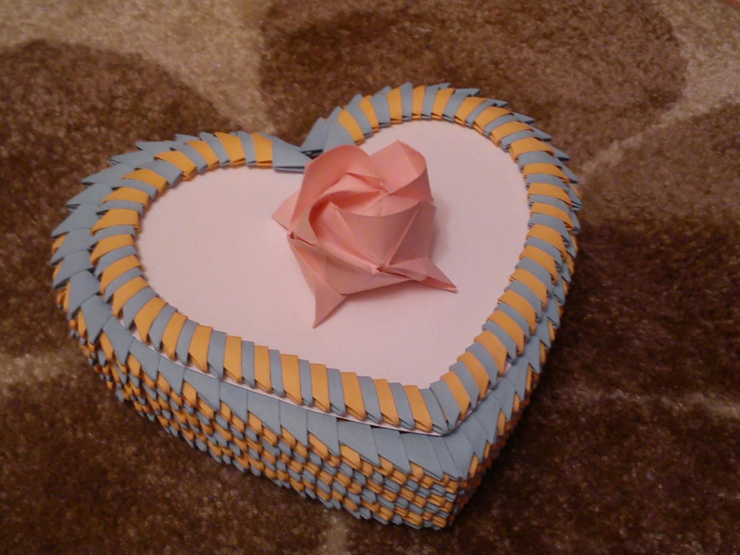 3D Origami Heart Box Tutorial