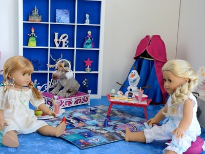 American Girl Doll Disney Frozen Anna's Bedroom (featuring Elsa) ~ HD WATCH IN HD!