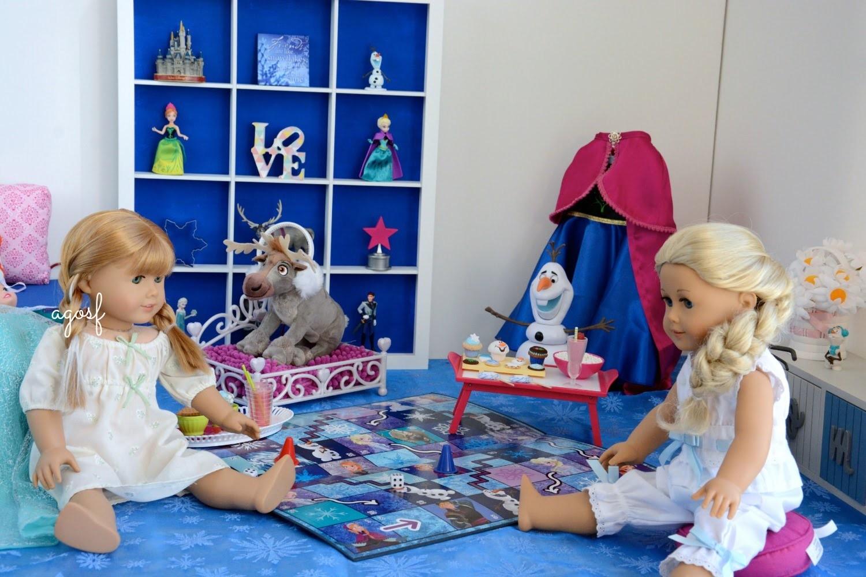 American Girl Doll Disney Frozen Anna's Bedroom (featuring Elsa) ~ HD WATCH IN HD!