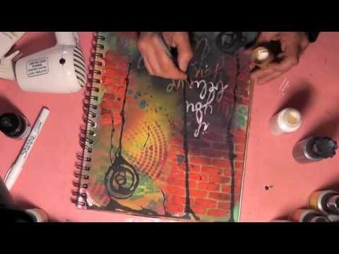 Art Journal Tutorial using Lindy's Stamp Gang and Crafter's Workshop Templates
