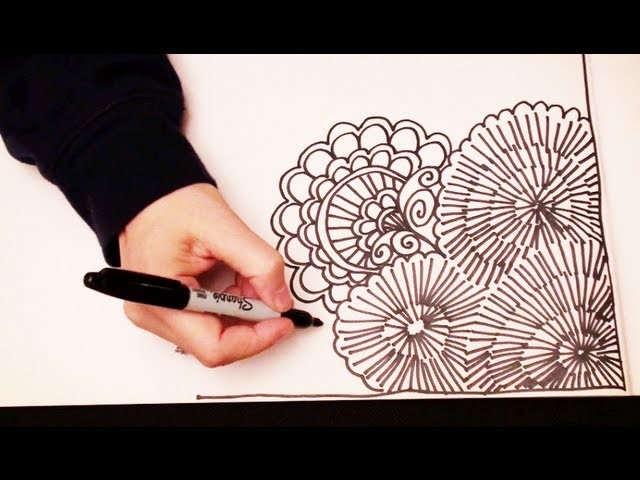 ASMR Doodling (Quality sound, ASMR drawn in real time, Doodling, Zentangle, No Speaking)