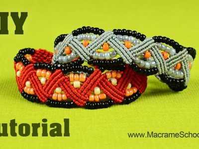 Beaded Macrame ZigZag Bracelet Tutorial