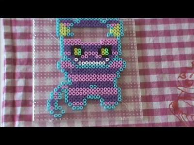Bügelperlen Vorlage Cute Series # 9 Grinse Katze Perler Beads Cheshire cat