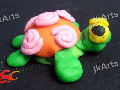 Clay Modelling   Learn to make Turtle in simple way for kids -  JK Easy Craft 004