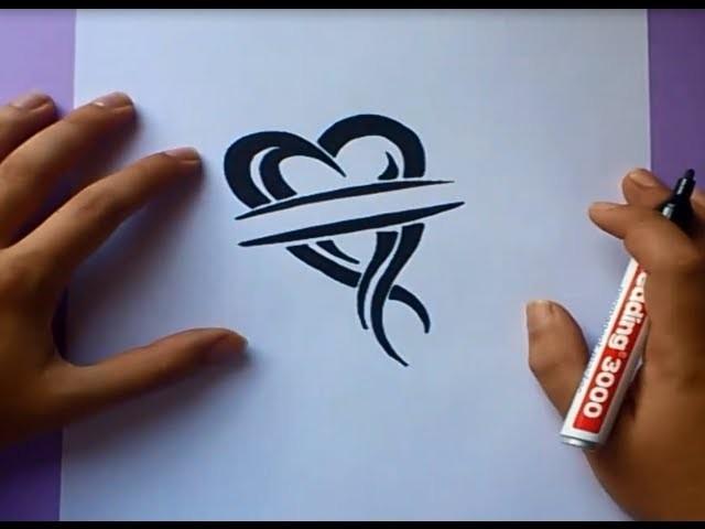 Como dibujar un tribal paso a paso 35 | How to draw one tribal 35