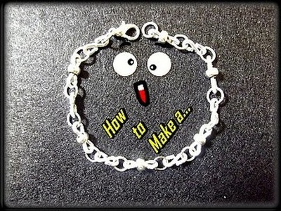 Como Hacer Cadena.Pulsera en Alambre.How to make a wire chain.bracelet - By Puntoy Alambre