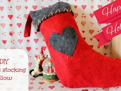 DIY Christmas stocking pillow