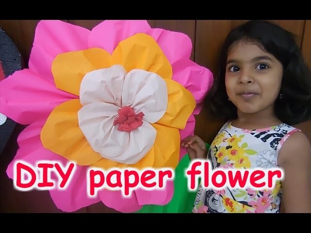 DIY Giant paper flower : how to make a giant paper flower