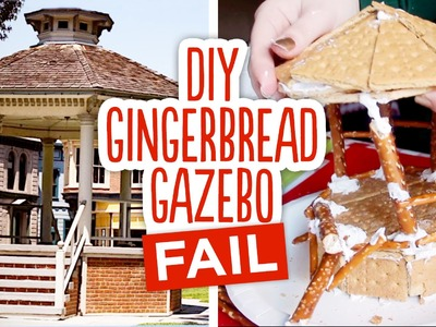 DIY Gingerbread Gazebo FAIL