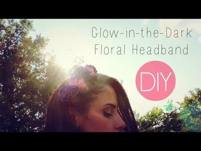DIY Glow-in-the-Dark Floral Headband