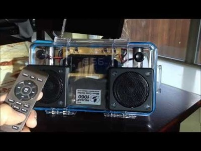 DIY Hacked Clock Radio Mini Pelican 1060 BoomBox w.Bluetooth!