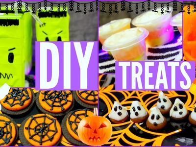 DIY HALLOWEEN TREATS! Creative, Easy, Quick, Perfect for Parties!