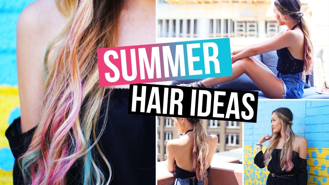 DIY.How To Hair Chalk & Easy Summer Hairstyles! | LaurDIY
