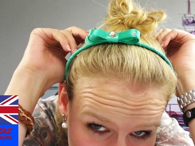 DIY Ideas: How to decorate your hairband with ribbon - Tutorial in English