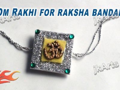 DIY Om Rakhi making for Raksha Bandhan - JK Arts 310