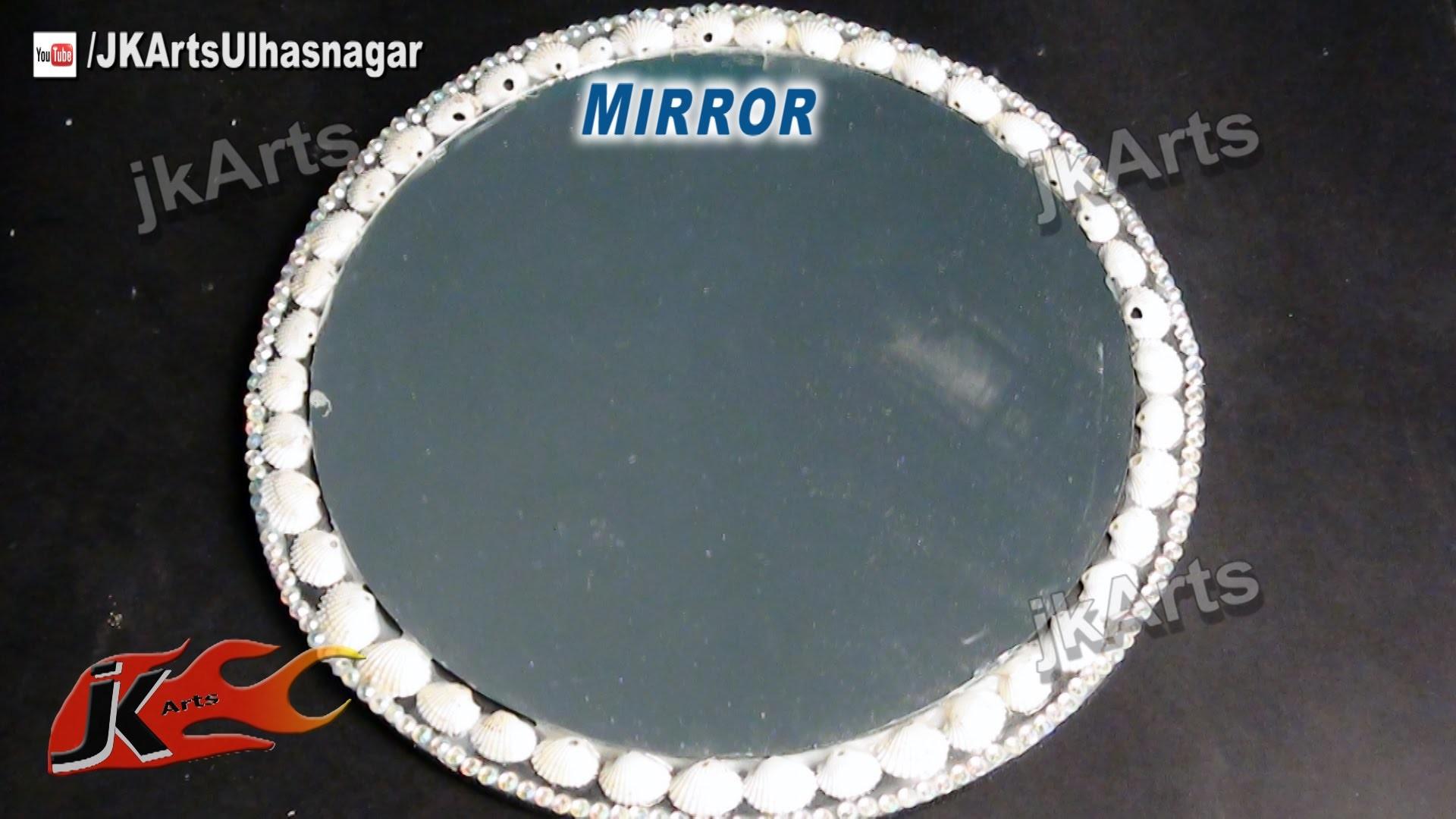 DIY Shell Mirror Wall Hanging | How to Make | JK Arts 513