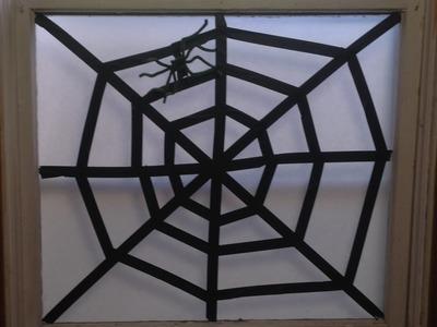 Easy Spider Web Halloween Decoration Craft