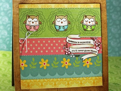Finally Friday with Julie Campbell: Guess Whoo's Expecting Card: 9-16-11