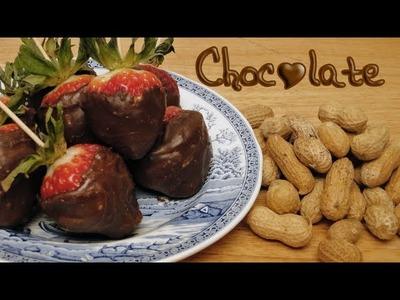 Fresas, mani y chocolate ♥ Strawberries, peanuts and chocolate
