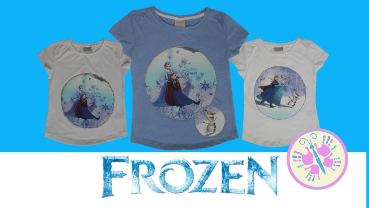 FROZEN DIY T-SHIRT | Anna and Elsa Princess Inspired | Disney Movie by The Mini Maker Sisters
