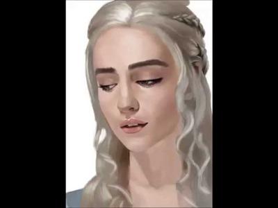 Game Of Thrones-Emilia Clarke portrait speed painting