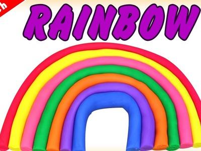 German DIY Einfach: How To Make Play Doh Rainbow | Lernen Regenbogen Aus Knetmasse Deutsch