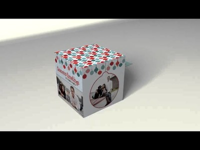 Holiday Greeting Card Pop-Up Cube - PUC 4 N11 - Red Paper Plane